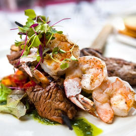 surf and turf dish